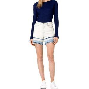 J Brand NEW Gracie High Rise Frayed Shorts 30
